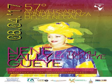 Indipendenza Senegal. Musica e danza afro con Tamra e Border Radio @Casa del Quartiere Torino. 8/4/17